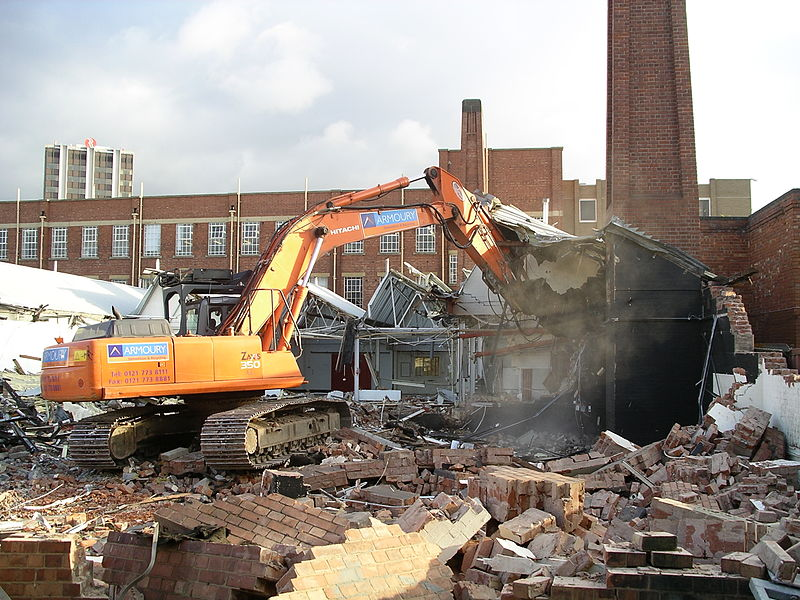 Building demolition with insurance