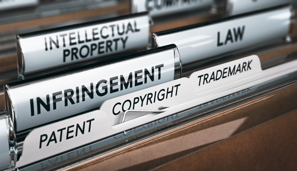 IP law infringement patent copyright trademark files Professional Indemnity