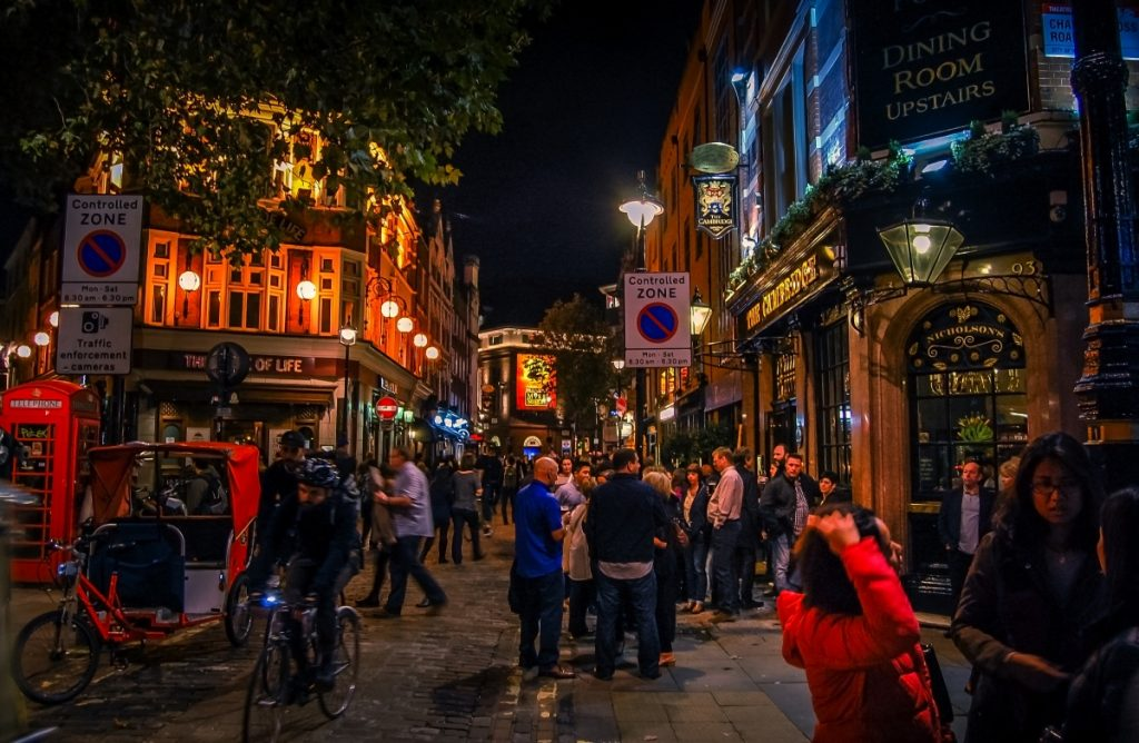 Soho London nightlife and bars with insurance